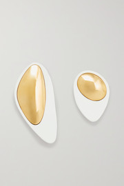 Nausheen Shah x Monica Sordo Kiki coated gold-plated earrings