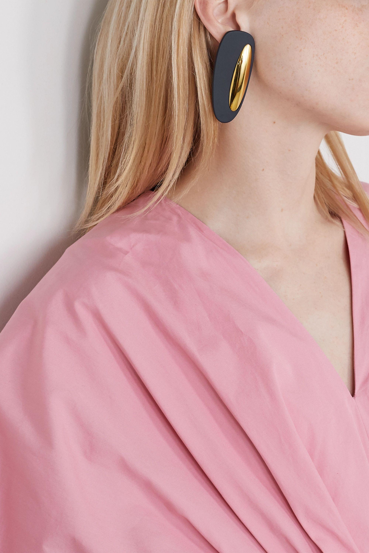 Nausheen Shah x Monica Sordo Peggy coated gold-plated earrings