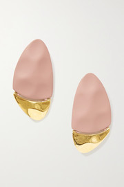 Nausheen Shah x Monica Sordo Gilot coated gold-plated earrings