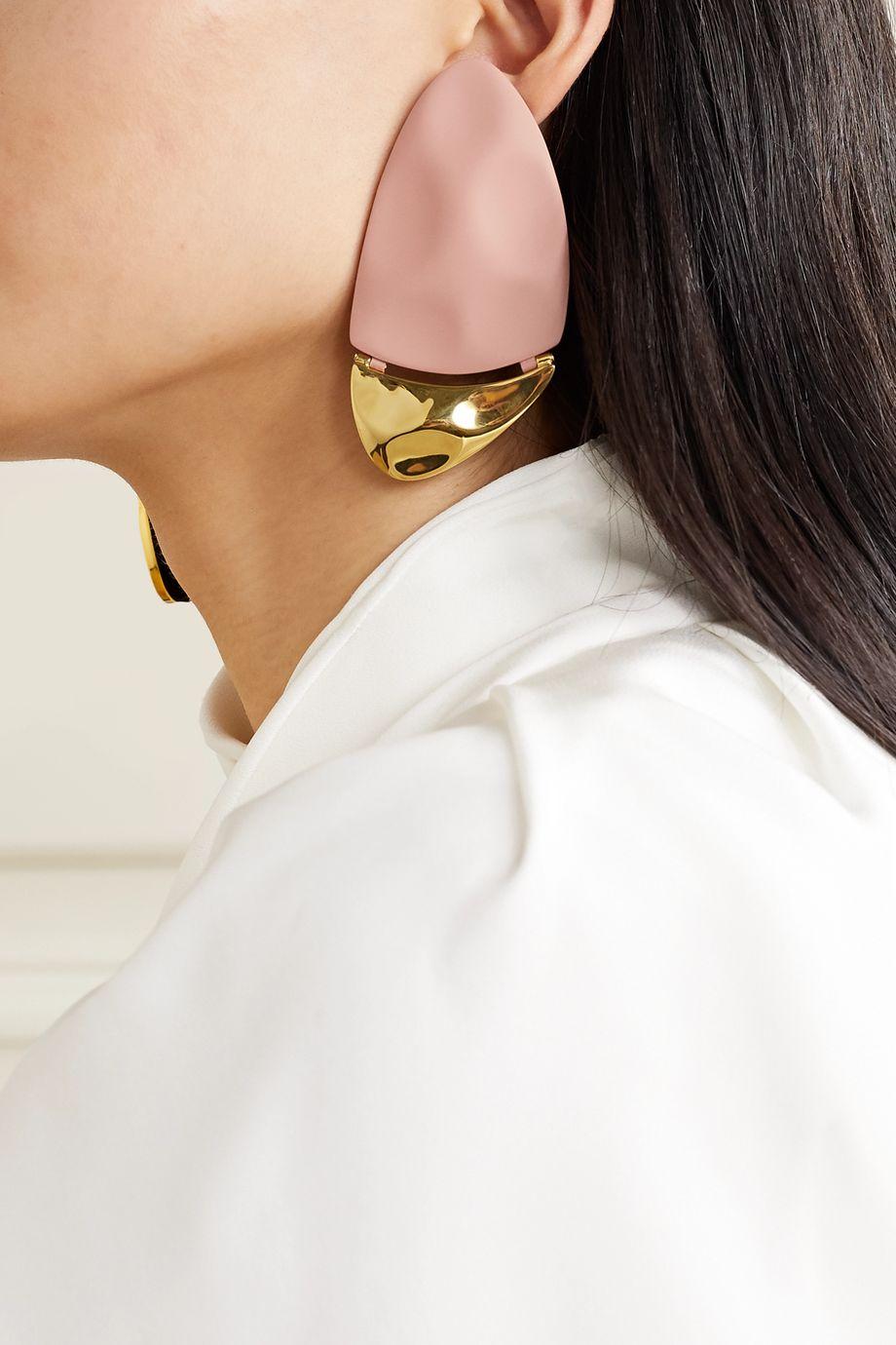 Nausheen Shah x Monica Sordo Gilot coated gold-plated earrings