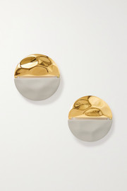 Nausheen Shah x Monica Sordo Gala coated gold-plated earrings