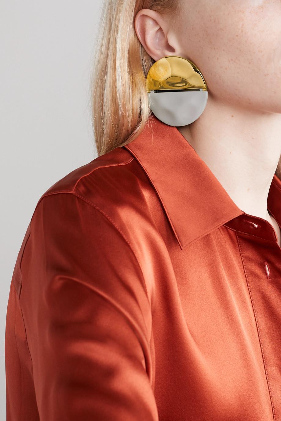 Nausheen Shah x Monica Sordo Gala coated gold-plated earrings