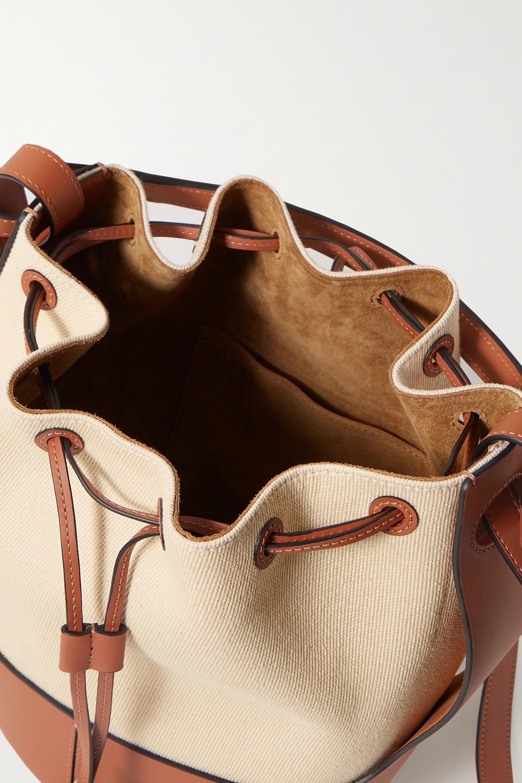 Loewe Balloon medium canvas and leather bucket bag