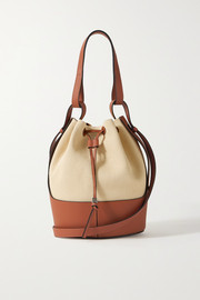 Loewe Balloon medium canvas and leather bucket bag