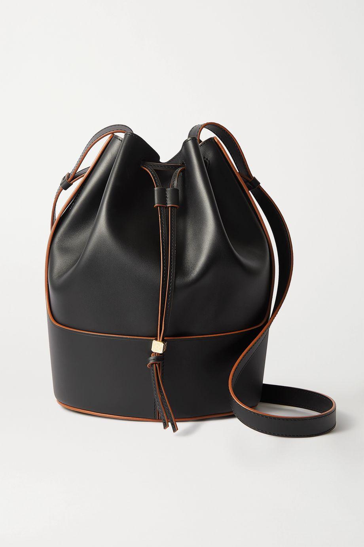 로에베 벌룬백 버킷백 미디움 LOEWE Balloon medium leather bucket bag,Black