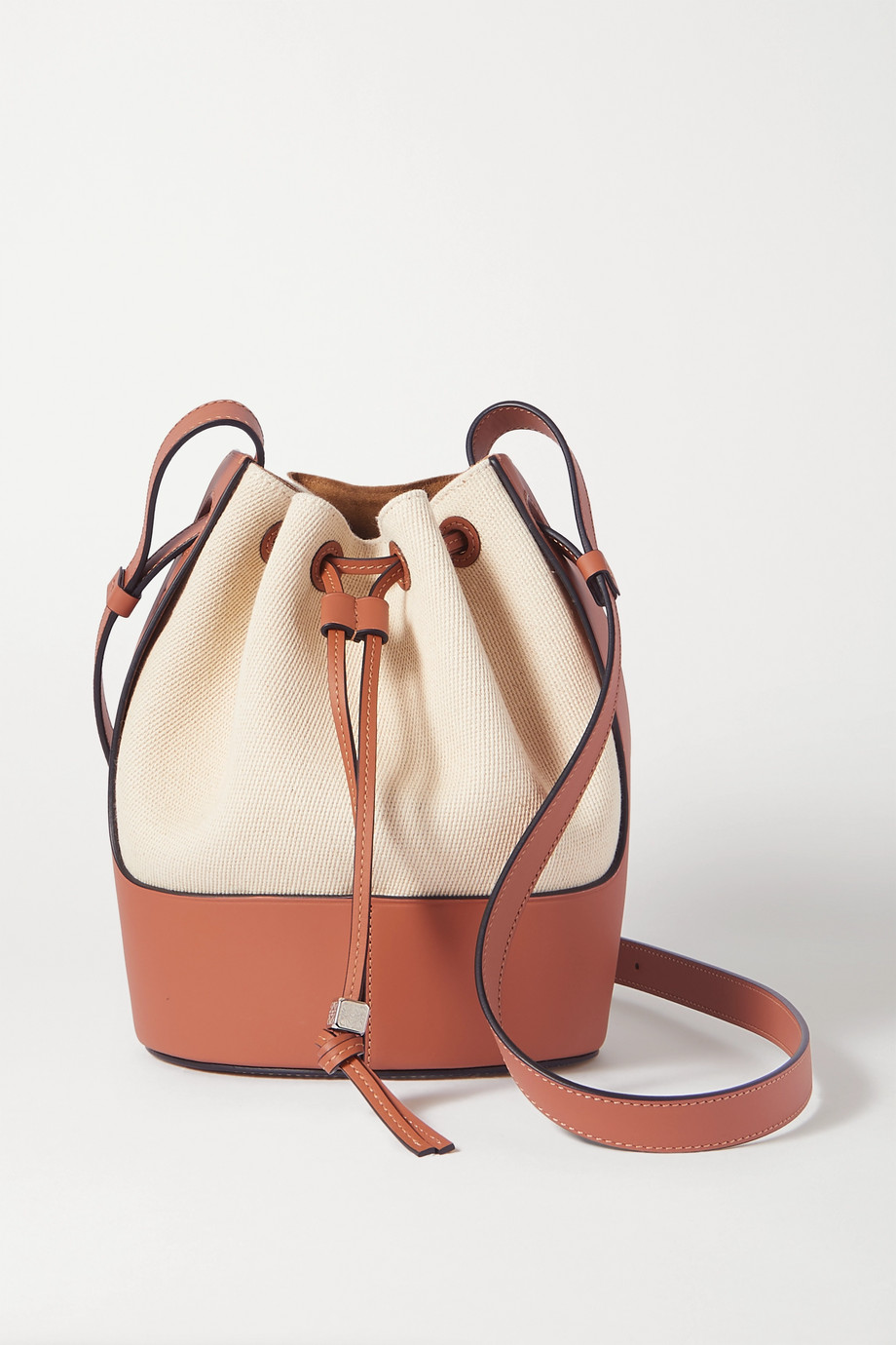 Loewe Balloon small cotton-canvas and leather bucket bag