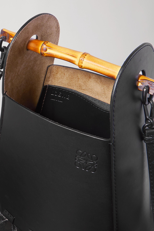 Black Bucket Bamboo And Leather Tote | Loewe