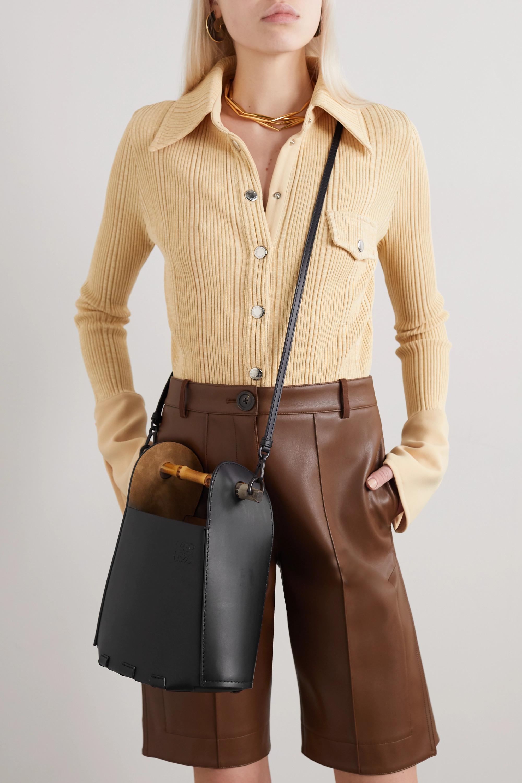 Loewe Bucket bamboo and leather tote