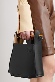 Loewe Bucket bamboo and leather tote