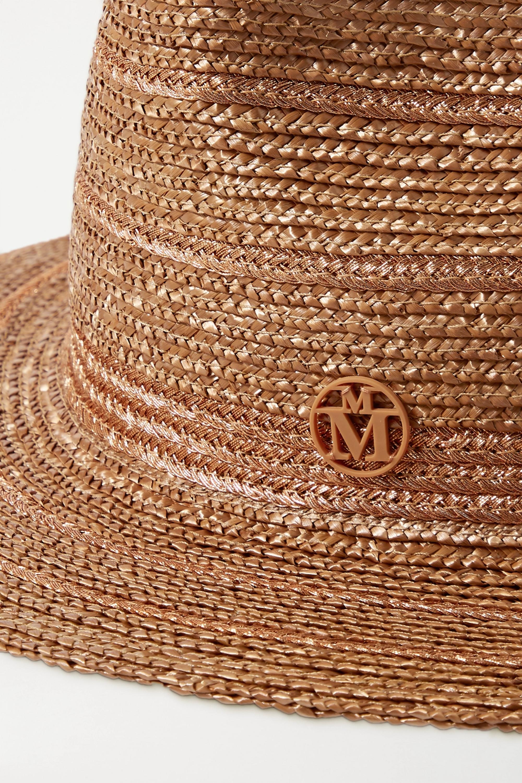 Maison Michel Rico metallic-trimmed straw fedora