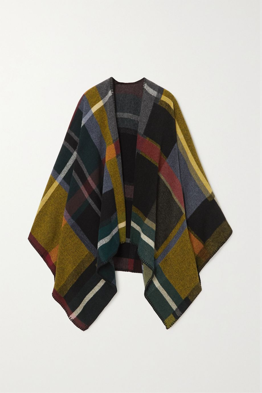 Holzweiler + NET SUSTAIN checked wool and cashmere-blend wrap