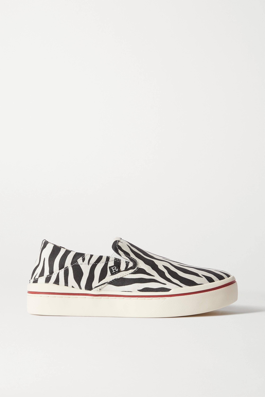 Black Zebra-print canvas collapsible
