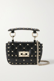 Valentino Valentino Garavani Rockstud Spike micro quilted leather shoulder bag