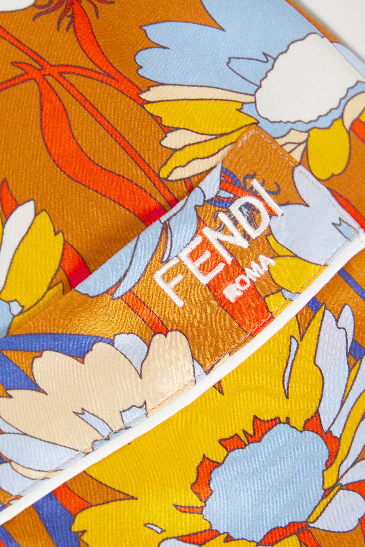 Fendi Floral-print silk-satin pajama set