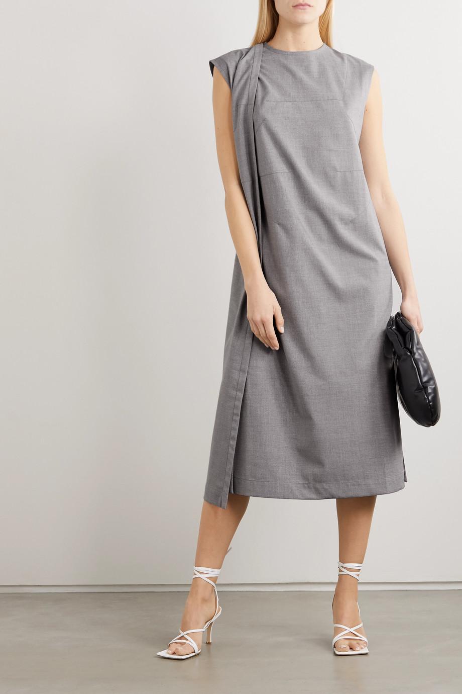 Situationist Paneled wool-blend midi dress