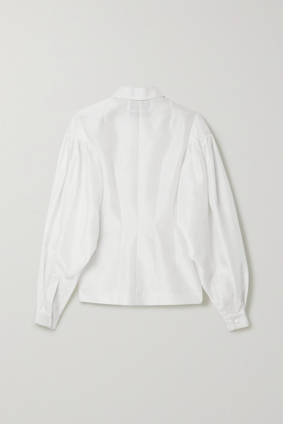 Situationist Silk-organza shirt