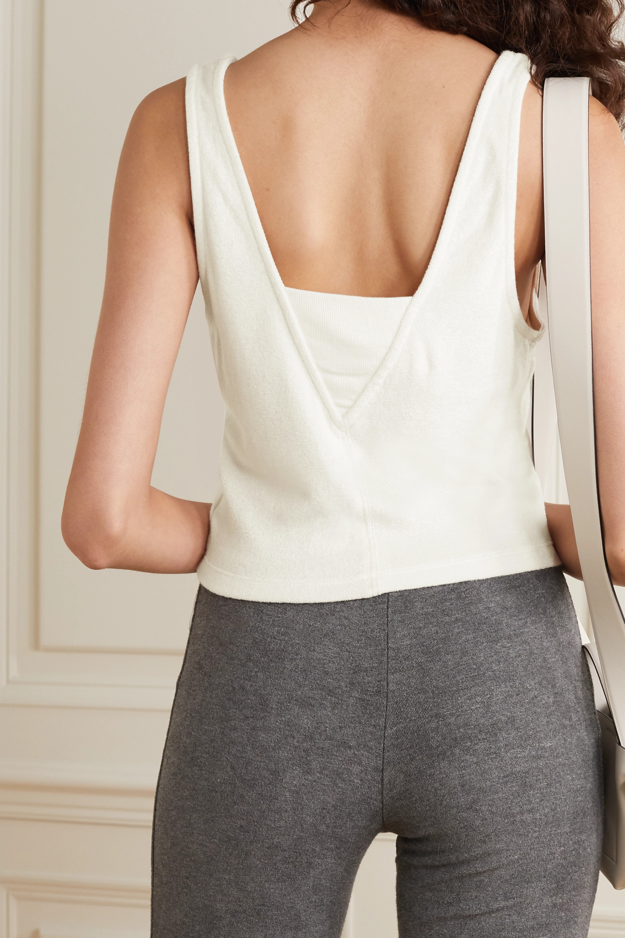 calé Coco cropped terry tank