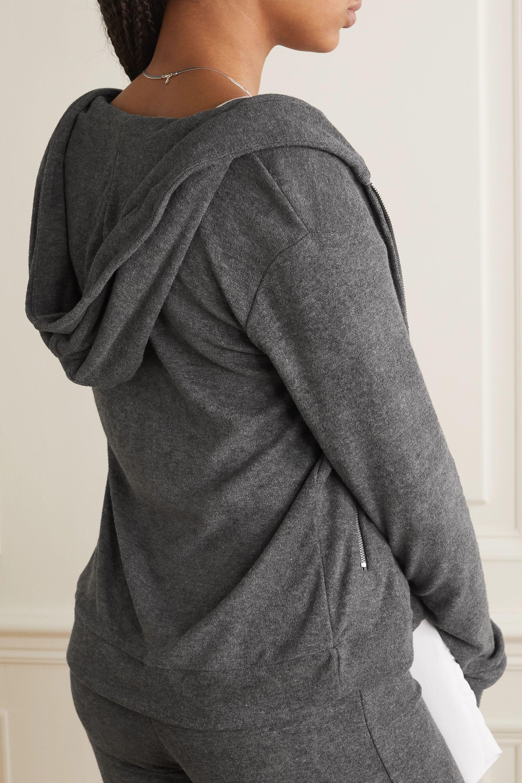 calé Simone mélange stretch-terry hoodie