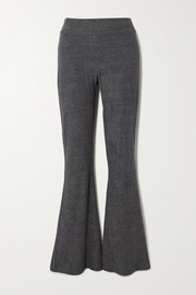 calé Angelique mélange stretch-terry flared pants