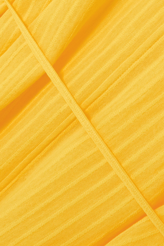 SU Paris Kya fringed striped cotton-gauze kaftan