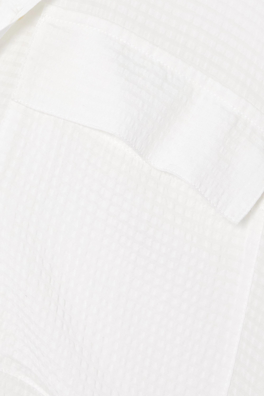 SU Paris Raya seersucker maxi shirt dress
