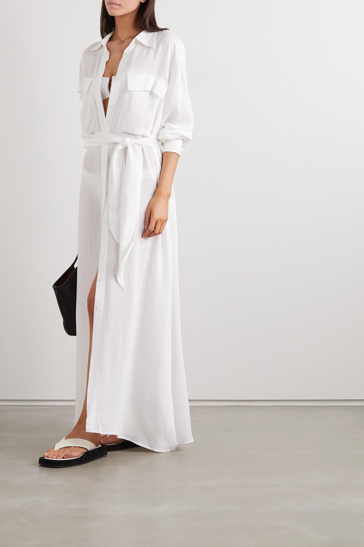 Onwijs White Raya seersucker maxi shirt dress | SU Paris | NET-A-PORTER DC-65