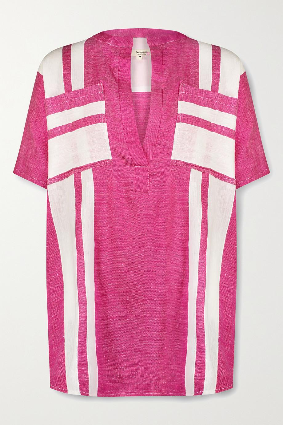 LemLem Zoya striped cotton-voile tunic