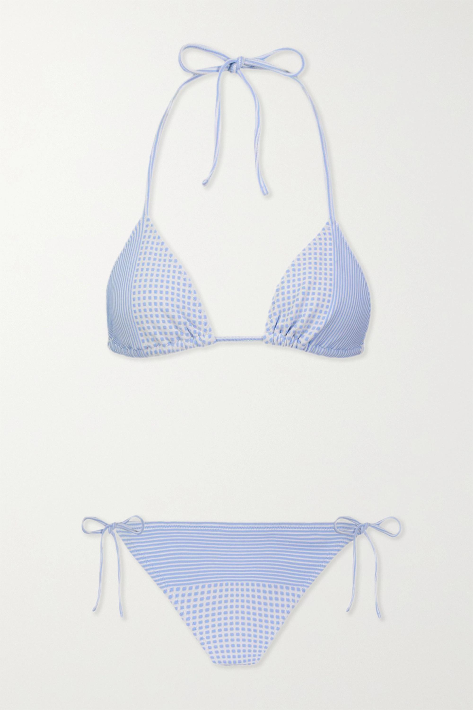 LemLem Semira stretch-jacquard bikini