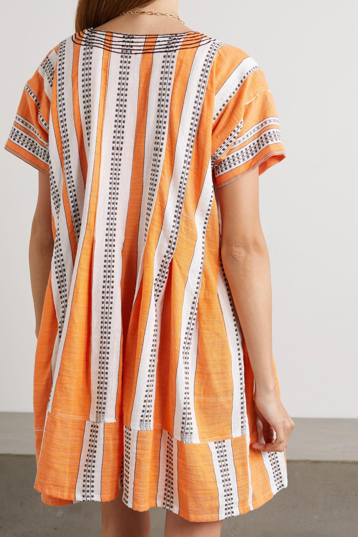 LemLem Amira printed cotton-blend gauze mini dress