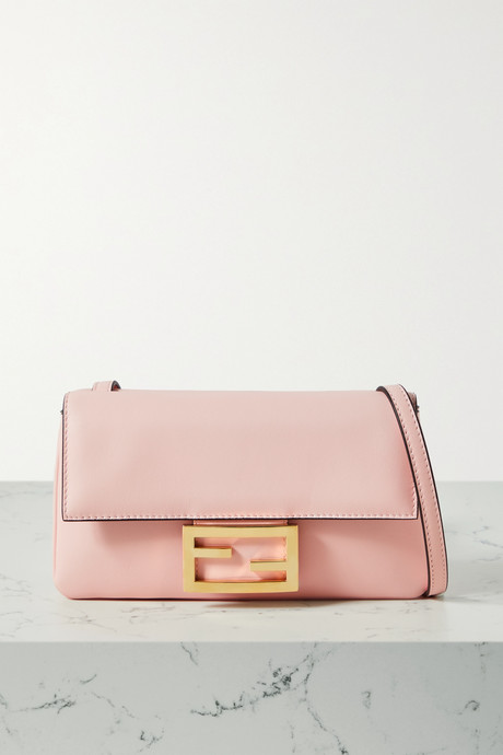 Baby pink Duo Baguette leather shoulder bag | Fendi WJKmhl