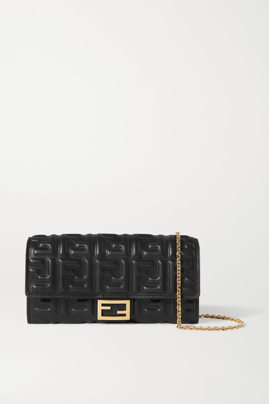 Fendi Embossed leather shoulder bag