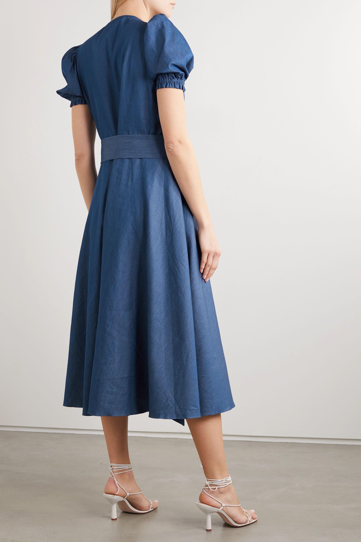 ARoss Girl x Soler Ines belted denim midi dress