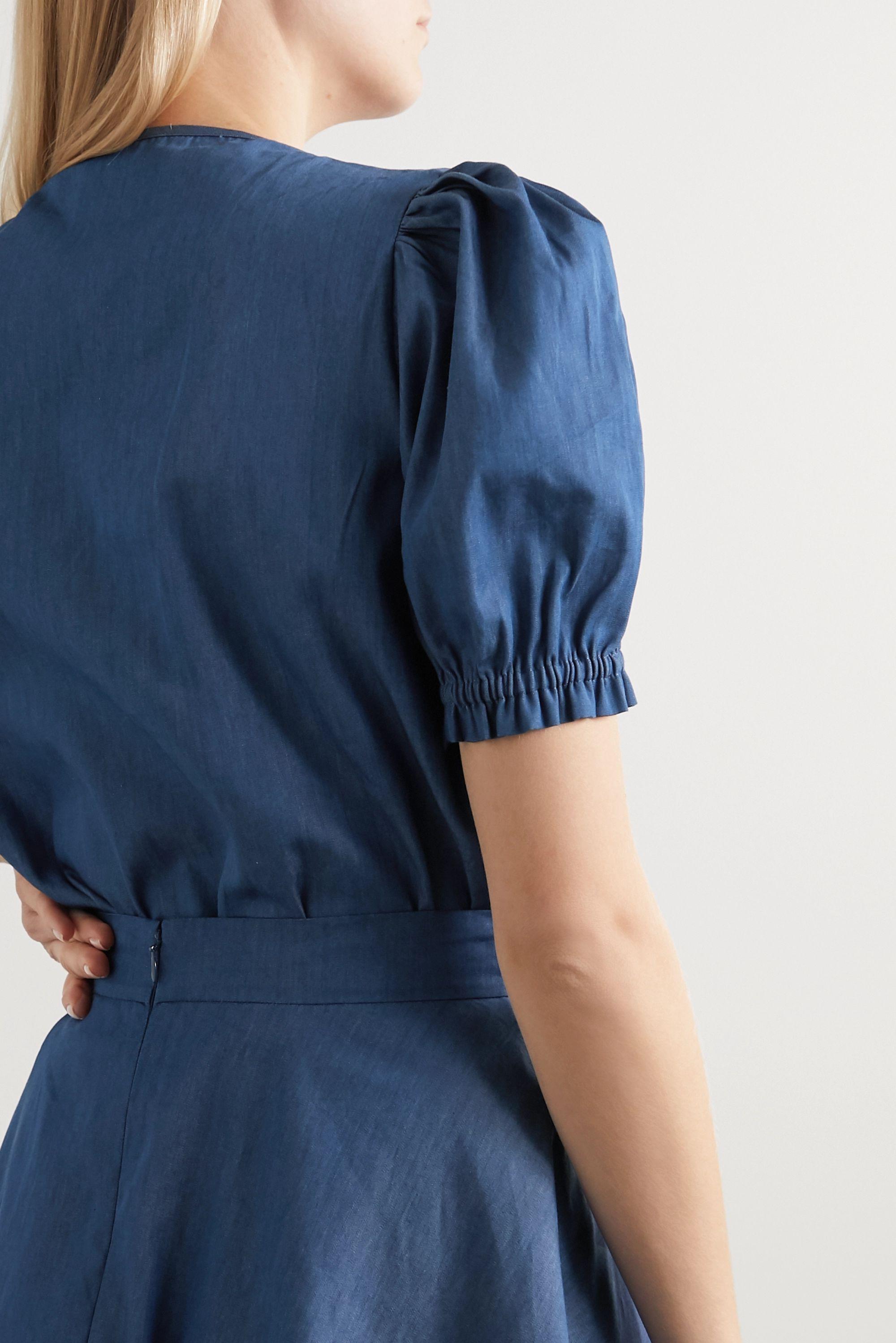 ARoss Girl x Soler Ines belted denim blouse