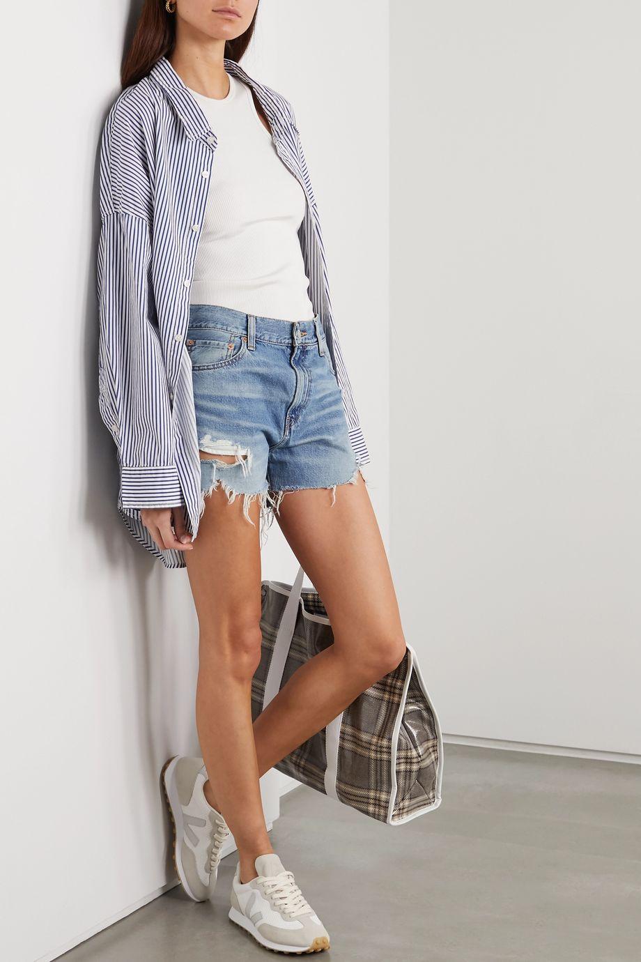 Denimist Karen distressed denim shorts