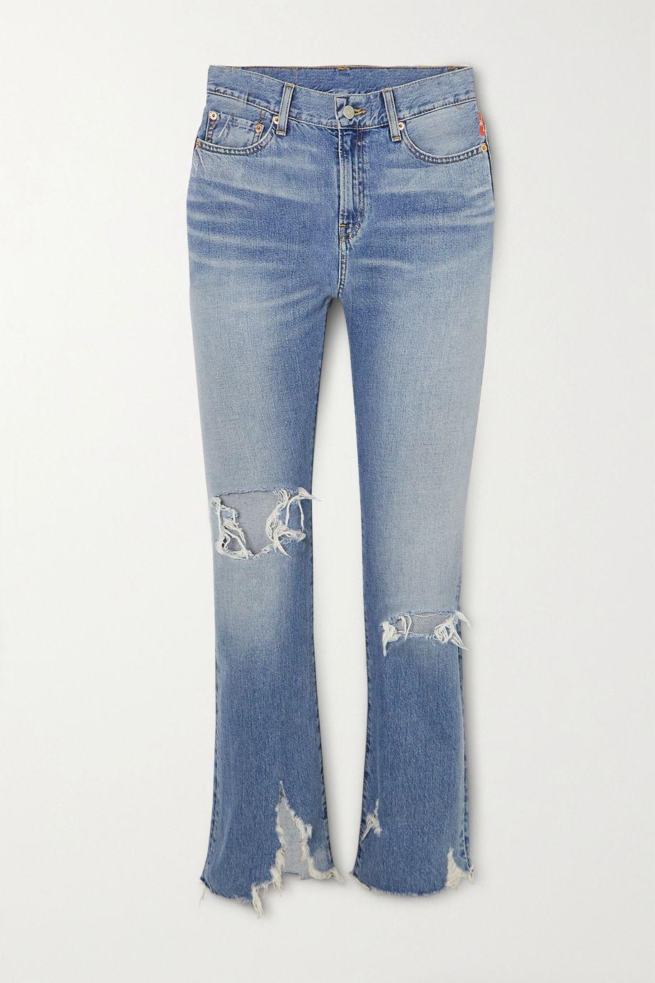 Denimist Joni distressed mid-rise slim-leg jeans