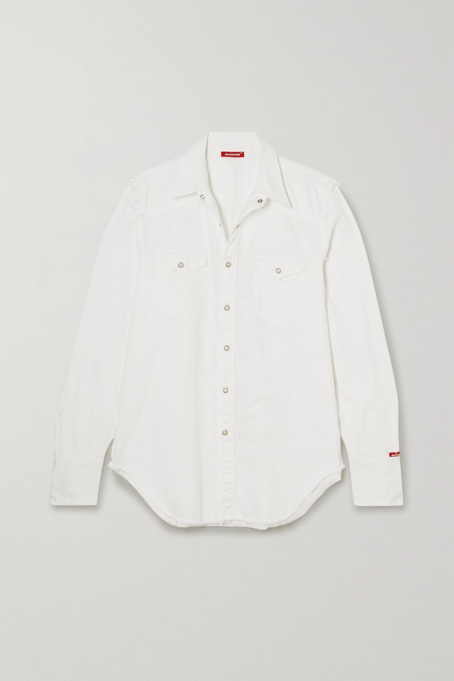Denimist Cowboy distressed cotton-twill shirt