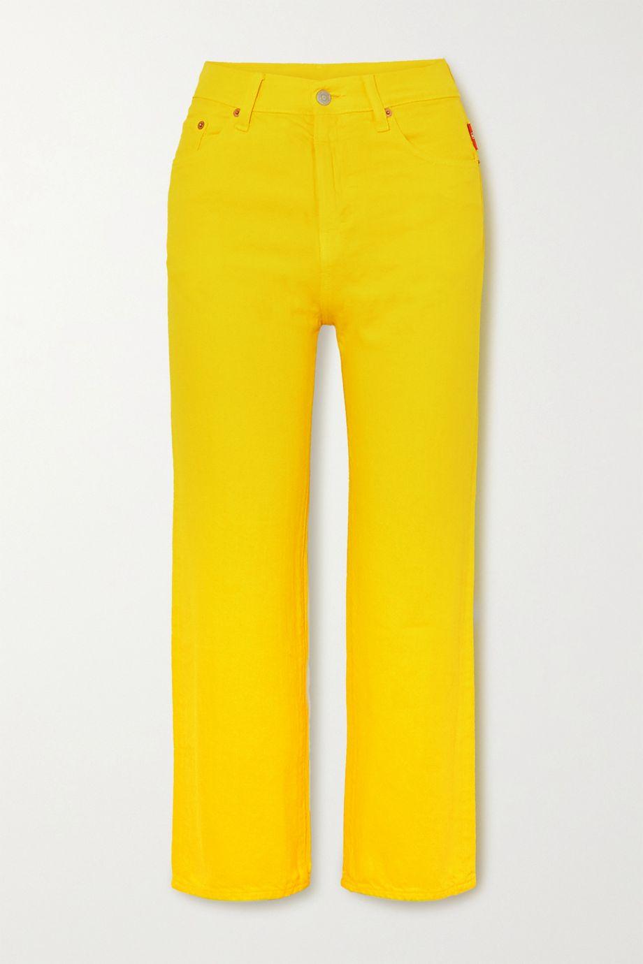 Denimist Pierce cropped high-rise straight-leg jeans