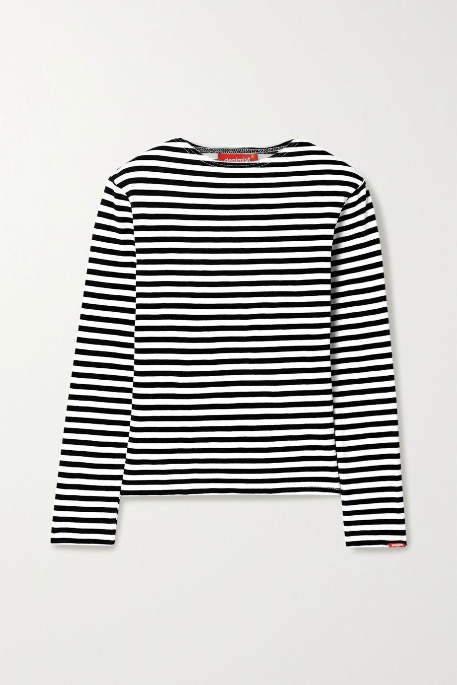 Denimist Striped cotton-jersey top