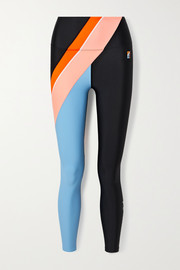 P.E NATION Aerial Drop color-block stretch leggings