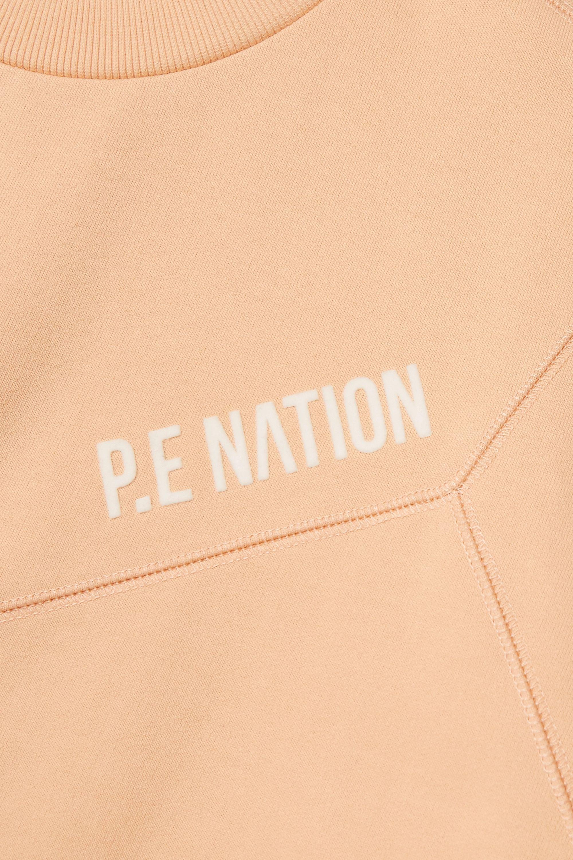 P.E NATION Field Goal Sweatshirt aus beflocktem Biobaumwoll-Jersey