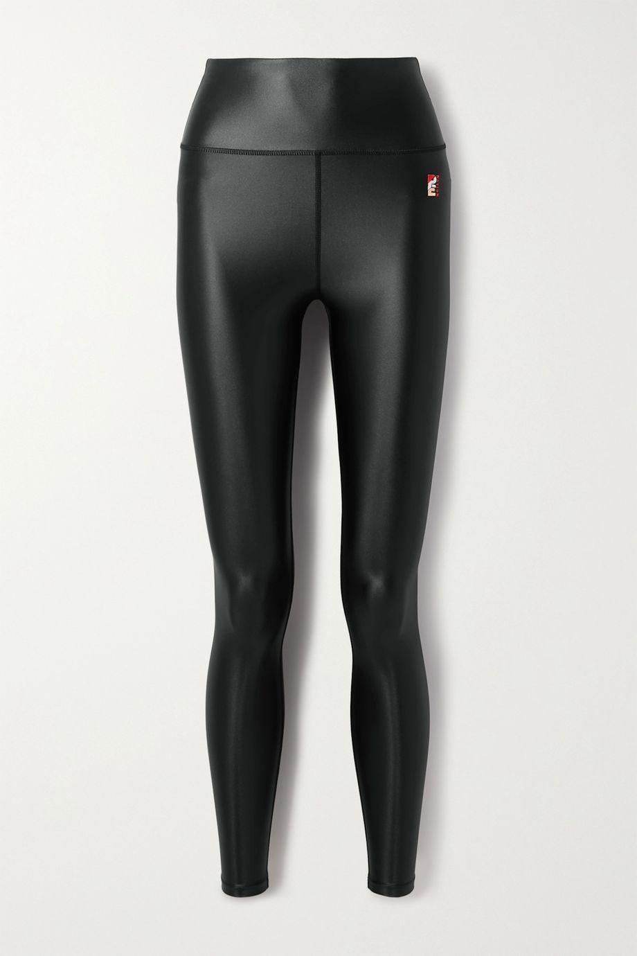 P.E NATION Round Up metallic stretch leggings