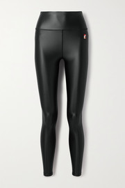 P.E NATION Round Up metallic stretch leggings