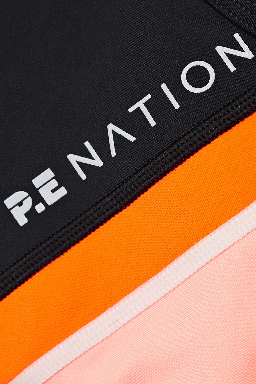 Black Aerial Drop Color-block Stretch Sports Bra | P.e Nation