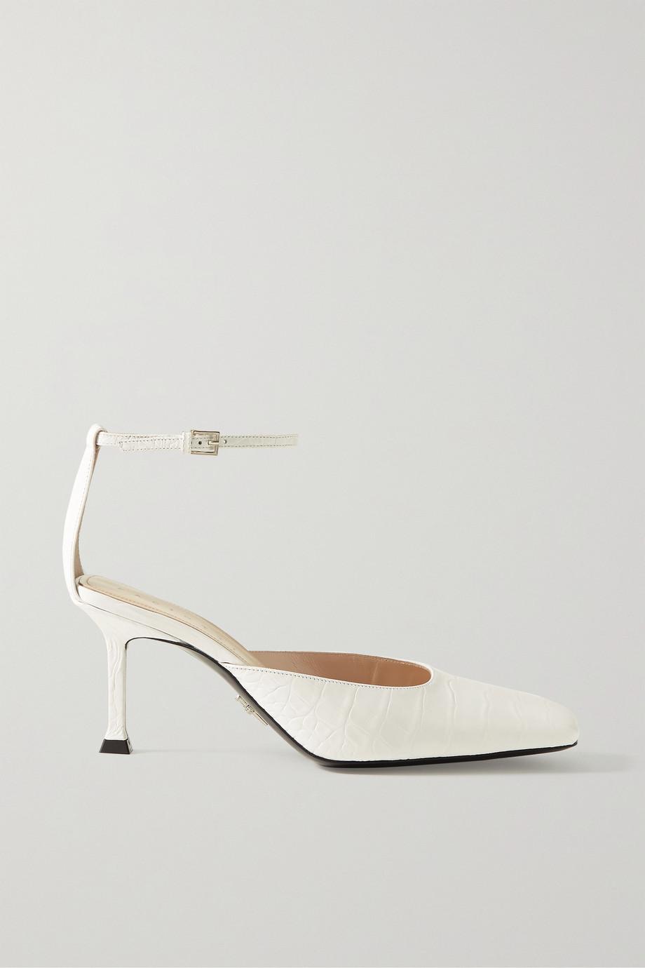 Paciotti Croc-effect leather pumps