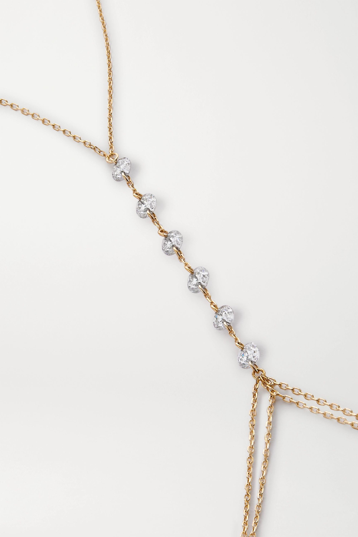 Persée 18-karat gold diamond body chain