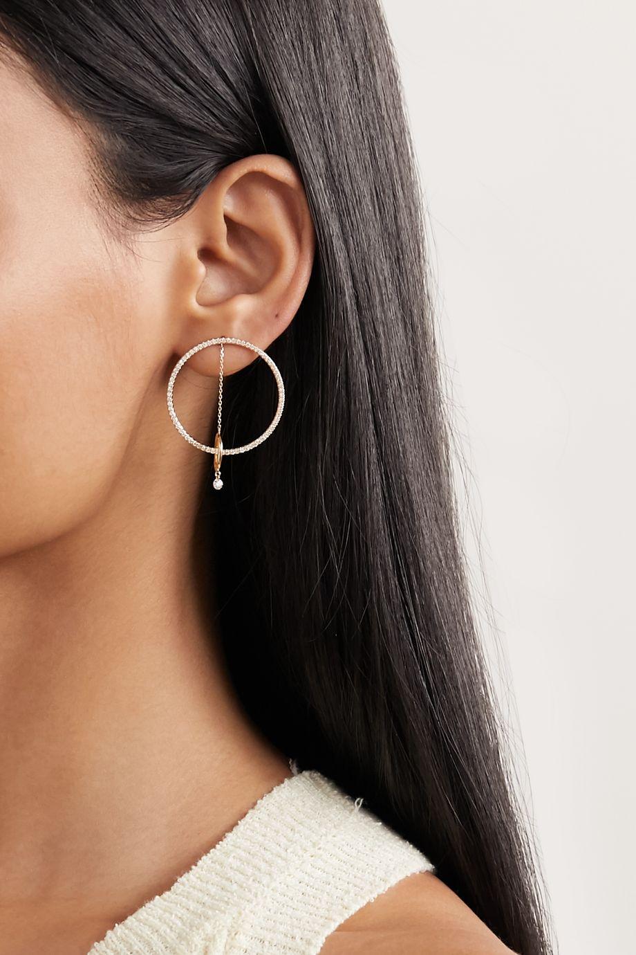 Persée Orbite Ohrring aus 18 Karat Gold mit Diamanten