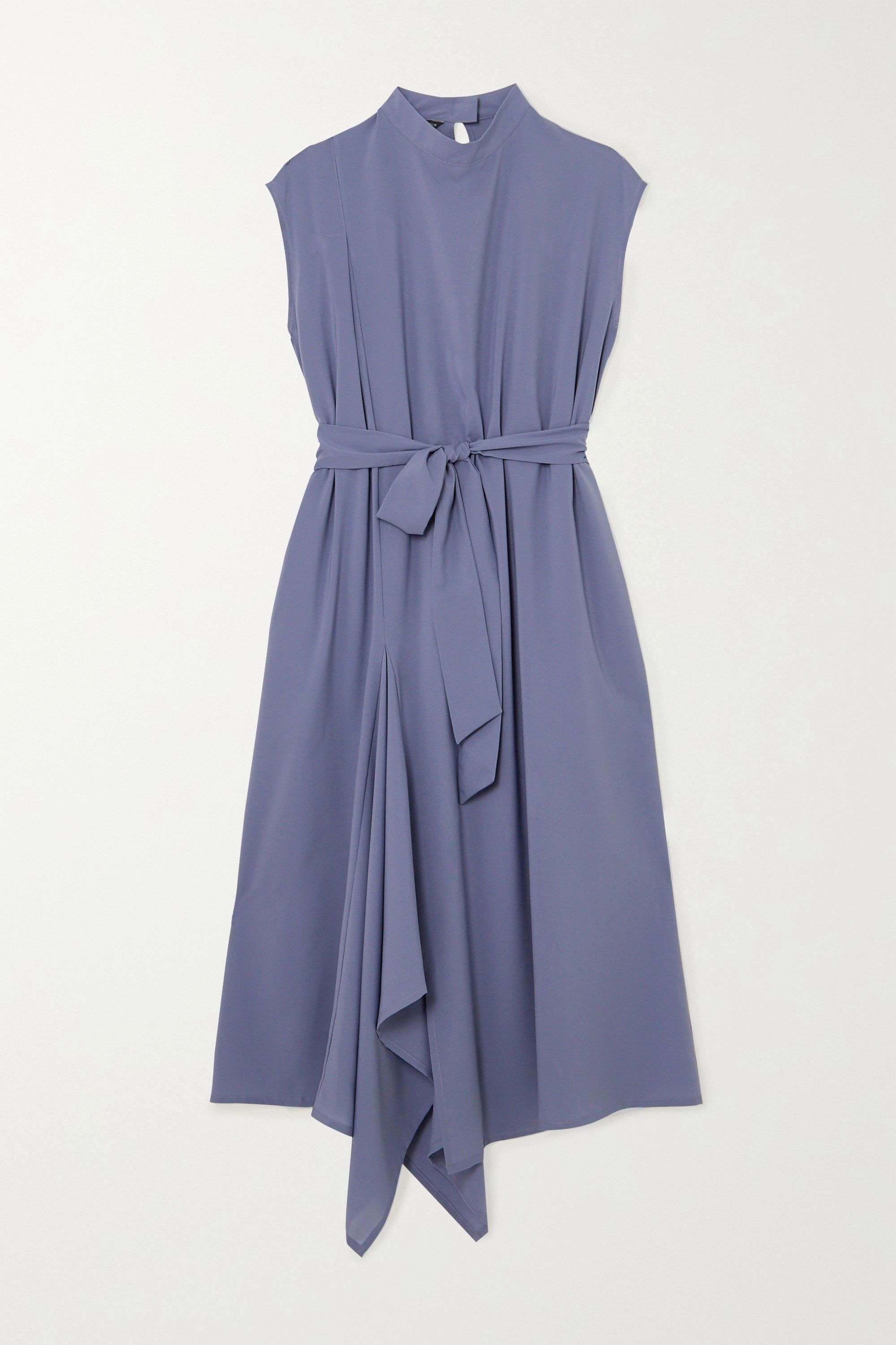 The R Collective + NET SUSTAIN + Wen Pan Aldgate belted crepe midi dress