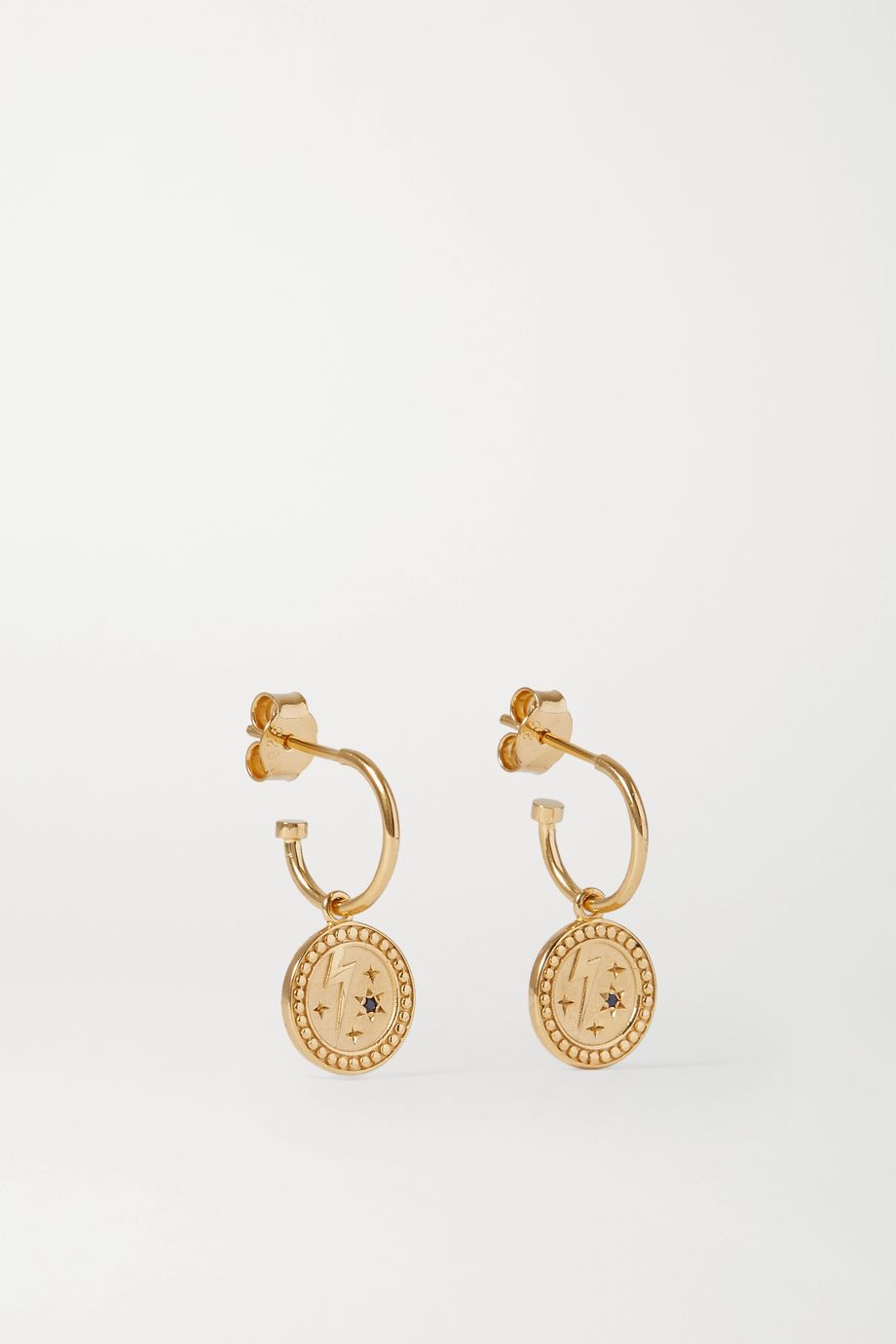 Meadowlark Amulet Strength gold-plated sapphire earrings