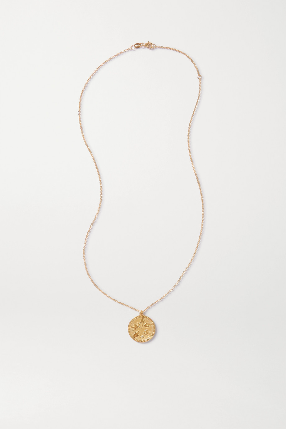 Meadowlark Talisman gold-plated diamond necklace