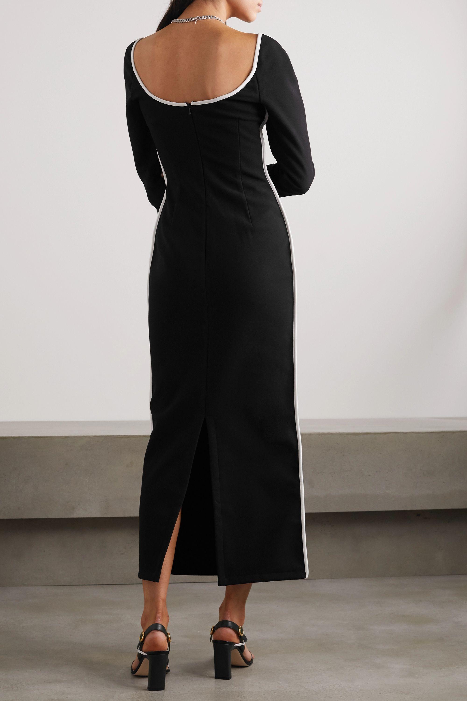 Paris Georgia Fabienne two-tone crepe midi dress